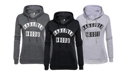 Sweatshirt mit Kapuze in Schwarz oder Grau