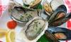 魚貝バル オイスター☆マート - 魚貝バル オイスター☆マート: 【500円】市場直送の新鮮食材を使用。自然の風味に舌鼓≪選べる貝類5個+極上馬肉料理1品+1ドリンク≫ @魚貝バル オイスター☆マート