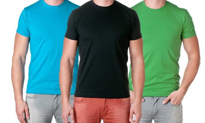 NLA Men's Fitted Premium Cotton-Blend Crew-Neck T-Shirts: NLA Men's Fitted Premium Cotton-Blend Crew-Neck T-Shirts