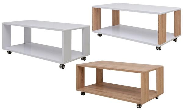 Table Basse Avec Roulettes 3 Couleurs Au Choix