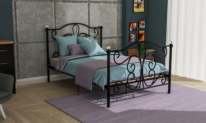 Chicago Metal Bed Frame from £94.99 (60% OFF)
