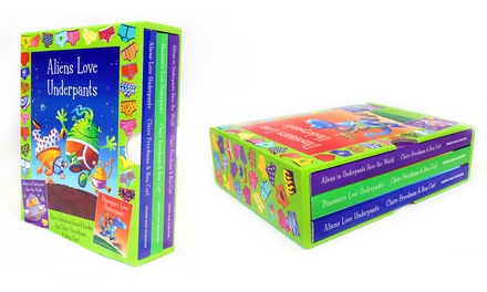 Aliens and Dinosaurs Love Underpants Three-Book Box Set