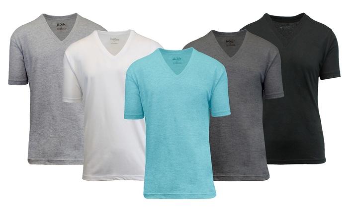 Men's 100% Egyptian Cotton V-Neck Undershirts (3-Pack)