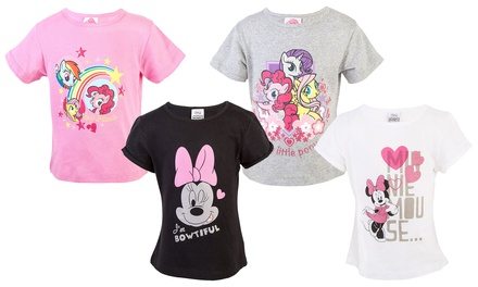 Two Character-Themed T-Shirts for Girls
