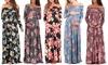 Women's Floral Over-the-Shoulder Maternity Dress