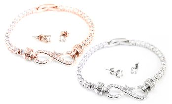 Arabella Two-Piece Jewellery Set Made with Crystals from Swarovski®