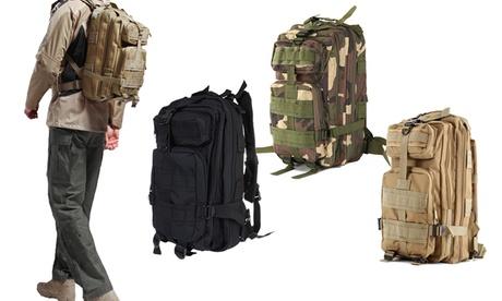 Outdoor-Rucksack in Schwarz, Khaki oder mit Tarn-Muster