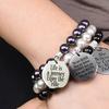 Inspirational Stretch Bracelet Made with Crystal Pearls from Swarovski