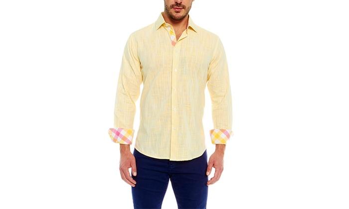 Suslo Couture Men S Linen Shirts Groupon Goods