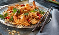 Two-Course Asian Meal with Wine for Two or Four at Wok Wow Noodle Bar (Up to 61% Off)