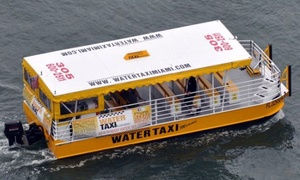 Water Taxi Miami: $79 for a Family and Friends All-Day Pass, Good for up to Five People from Water Taxi Miami ($150 Value)