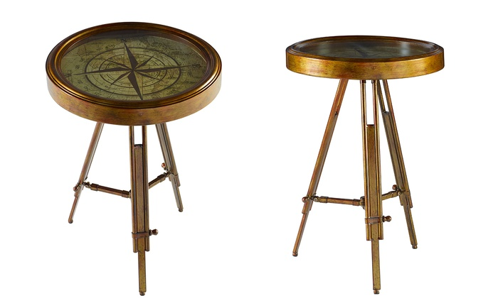 Genial Compass Accent Table