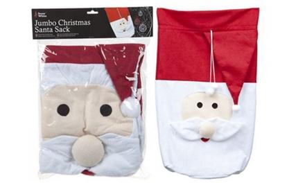 One, Two or Three Jumbo Christmas Santa Sacks