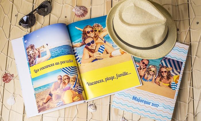 1 ou 2 livres photo A4 personnalisable de 28, 40, 60, ou 80 pages dès 2,99 € (jusqu'à 90% de réduction)