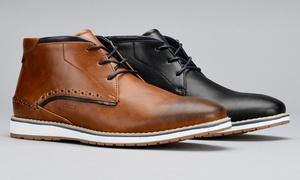 Harrison Bobby Men's Plain-Toe Casual Desert Boots