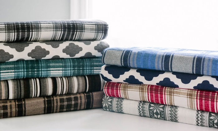 Clearance Avalanche Flannel Sheet Set 4 Piece Groupon