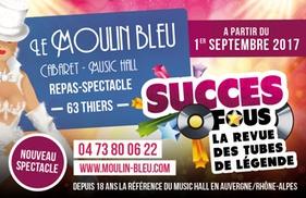 Cabaret Le Moulin Bleu: Dîner ou déjeuner spectacle ou spectacle seul, formule au choix, pour 2 personnes dès 70 € au Cabaret Le Moulin Bleu