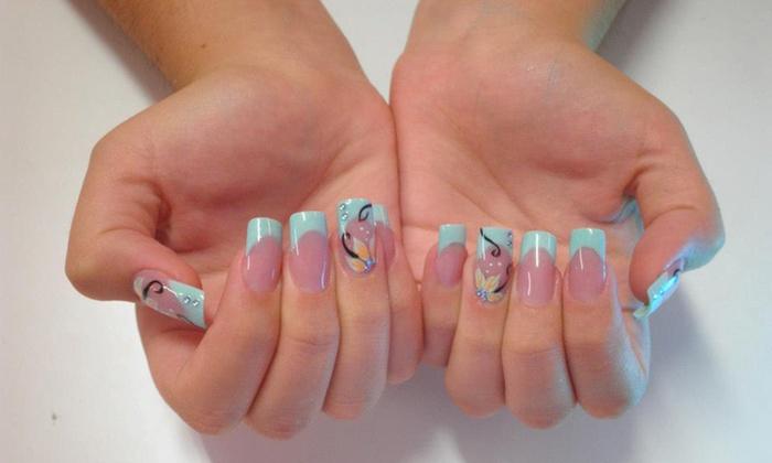 nails design mogn 2 manicuras semipermanentes con opcin a pedi desde 1295 - Fotos De Uas De Porcelana