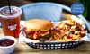 Burger, Loaded Fries and Drink