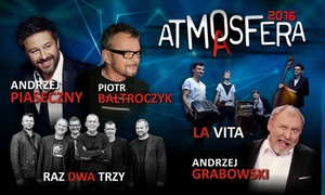 ATMA Sp. z o.o.: Od 49,90 zł: bilet na koncert Andrzeja Piasecznego – Atmasfera Poczuj Dobrą Energię – 16 lokalizacji