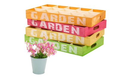 15-Section Wooden Potting Trays