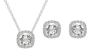 (Bijou)  Parure collier et BO cristaux Swarovski®  -92% réduction