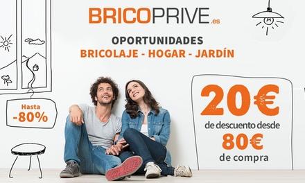 Un cupón de 20 € de descuento a partir de 80 € de compra en Brico Privé por 5 €