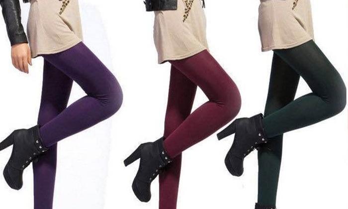 ברסקו - Merchandising (IL): מכנסי טייץ תרמיים עם בטנת פליז רכה ונעימה ב-7 צבעים לבחירה. אופציה ל-3 יחידות + 1 מתנה!