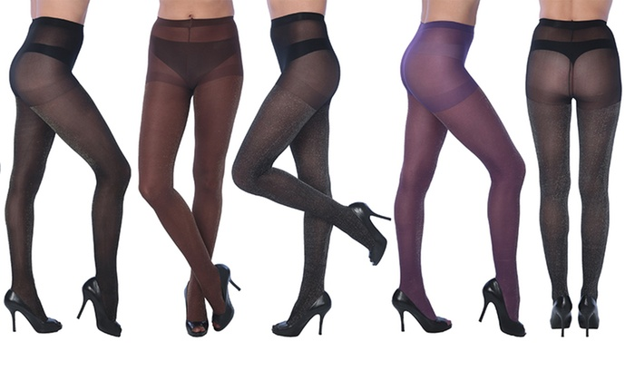 Isadora Women's Fashion Sheer Tights (6-Pack)