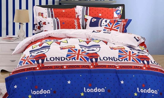 Deals for Less General Trading: Six-Piece Duvet Cover Set in Choice of Design