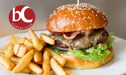 Burger and Steak Fries for One ($10) or Two People ($19) at Burger Club (Up to $41.60 Value)