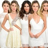 Juniors' White Lace Dress. Multiple Styles Available.
