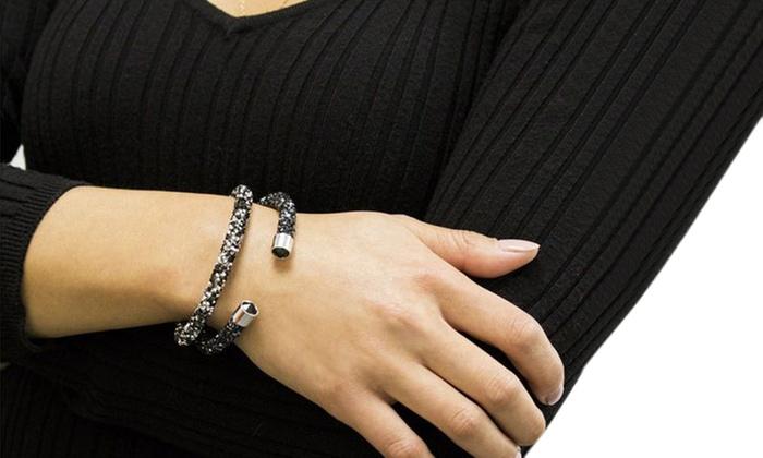 efb814b146d Crystal Energy Cuff Bangle Bracelets Made with Swarovski Crystals. Swarovski  Crystals Bracelet