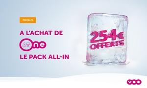 VOO: 1 an de forfait mobile gratuit à l'achat de One, le Pack all-in de VOO