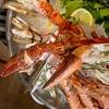 Mediterranean Seafood Platter with Wine