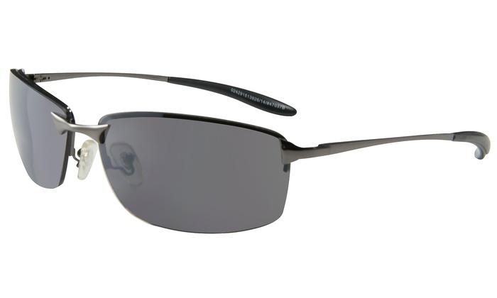 Piranha Eyewear Escape Gunmetal-Frame Men's Sunglasses