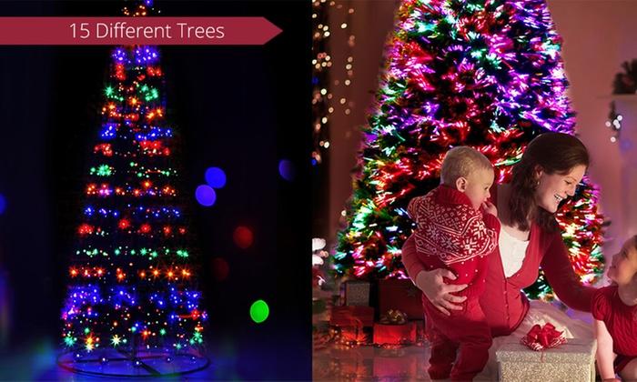 LED Optic Fibre Christmas Tree | Groupon