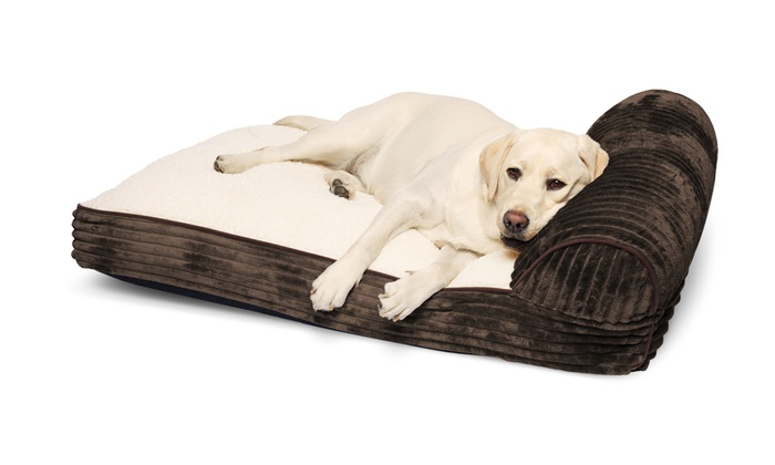... Chaise Lounger with Corduroy and Sherpa Top Pet Bed Chaise Lounger with Corduroy and Sherpa ...  sc 1 st  Groupon : pet chaise - Sectionals, Sofas & Couches