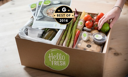 From $59 for a Box of Five Cook-at-Home Meals for Two People from HelloFresh Australia, Delivered (From $110 Value)