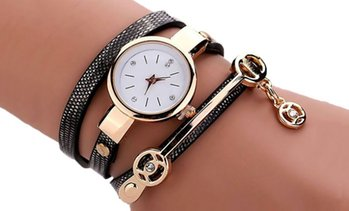 Montre double bracelet serpent