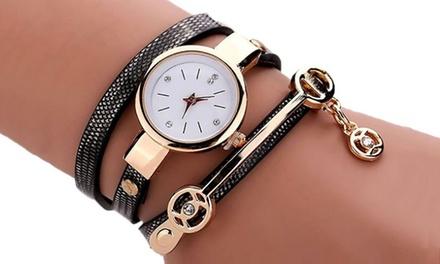 Montre double bracelet serpent