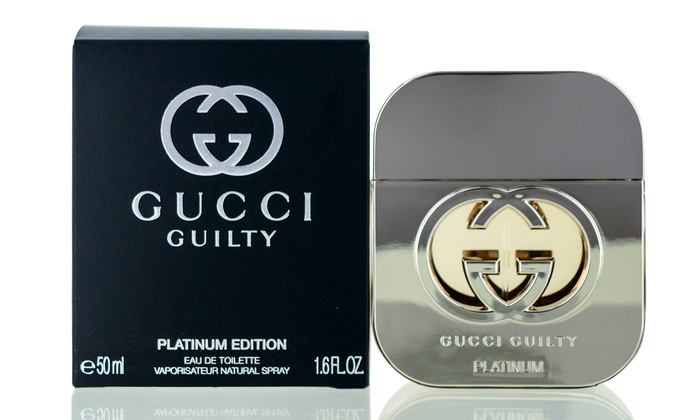 b422be737e Gucci Guilty Platinum Eau de Toilette for Women (1.6 Fl. Oz.) | Groupon
