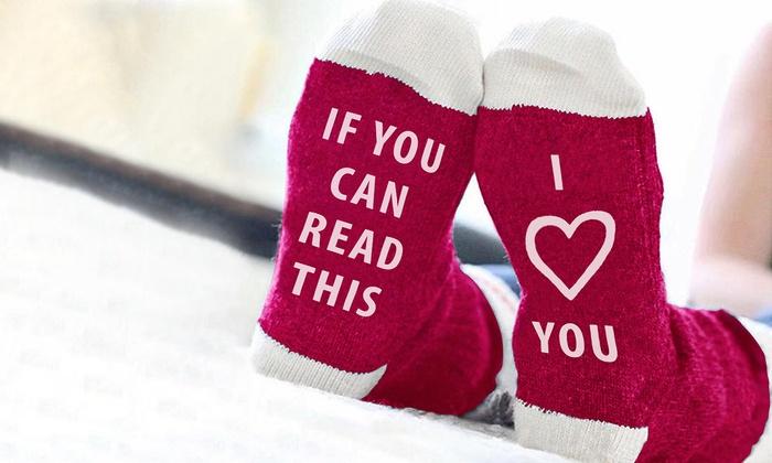 Women's Love and Affection Conversational Socks: Women's Love and Affection Conversational Socks