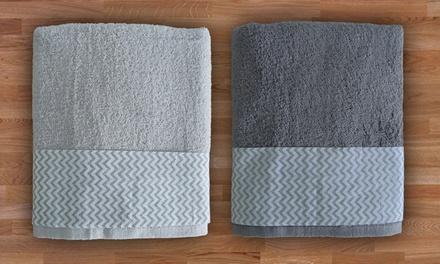 Set asciugamani zig zag in spugna