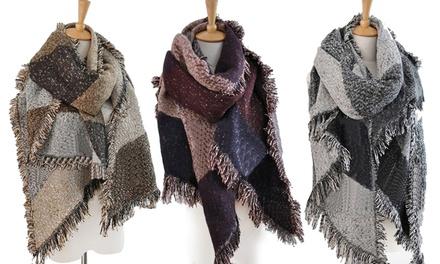 1x oder 2x Oversize-Schal für Damen in Braun, Grau oder Rot (Frankfurt)