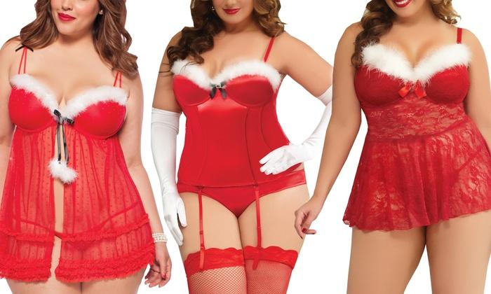 018e1e4e7 Plus Size Christmas Lingerie