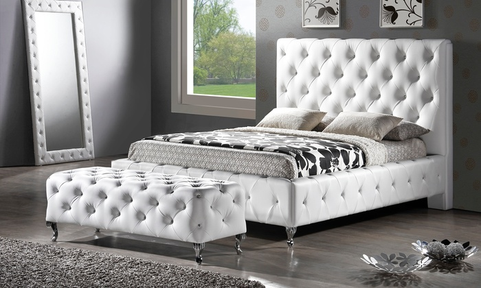 Tufted Upholstered Platform Bed Groupon Goods