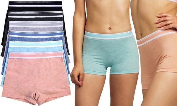 M /& S size 10-12 boy short knickers panties briefs stretchy cotton Mauve