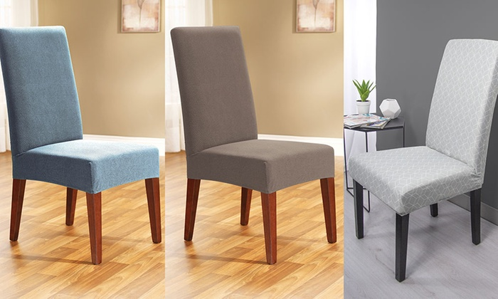 Cool Sure Fit Dining Chair Covers Groupon Goods Ncnpc Chair Design For Home Ncnpcorg