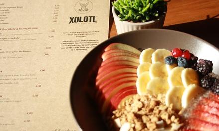 Desayuno normal o especial para 1 o 2 personas por 5,99 € en Xólotl